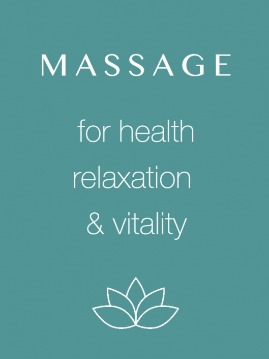 Massage for health, relaxation & vitality